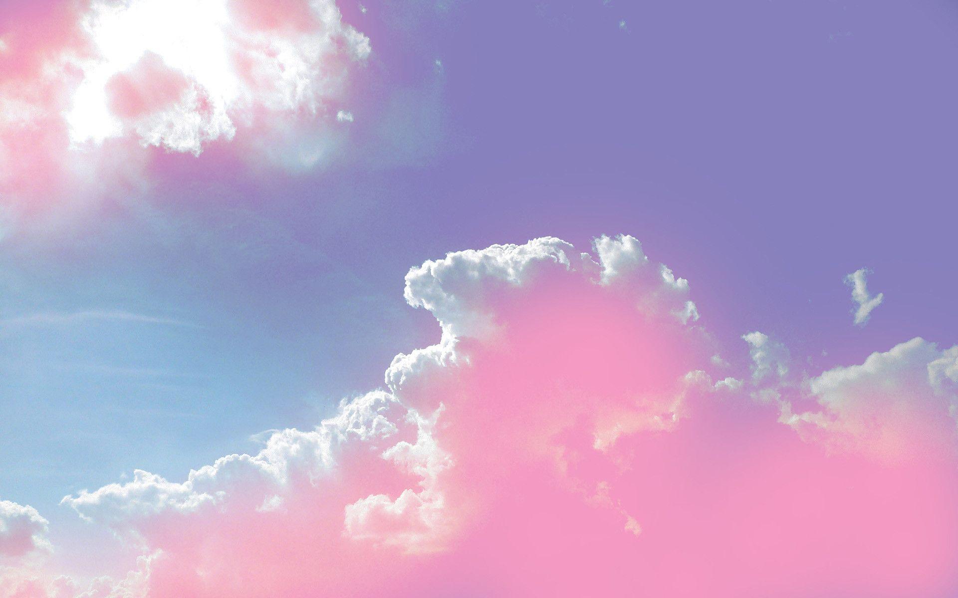 Ảnh background bầu trời đẹp mây hồng