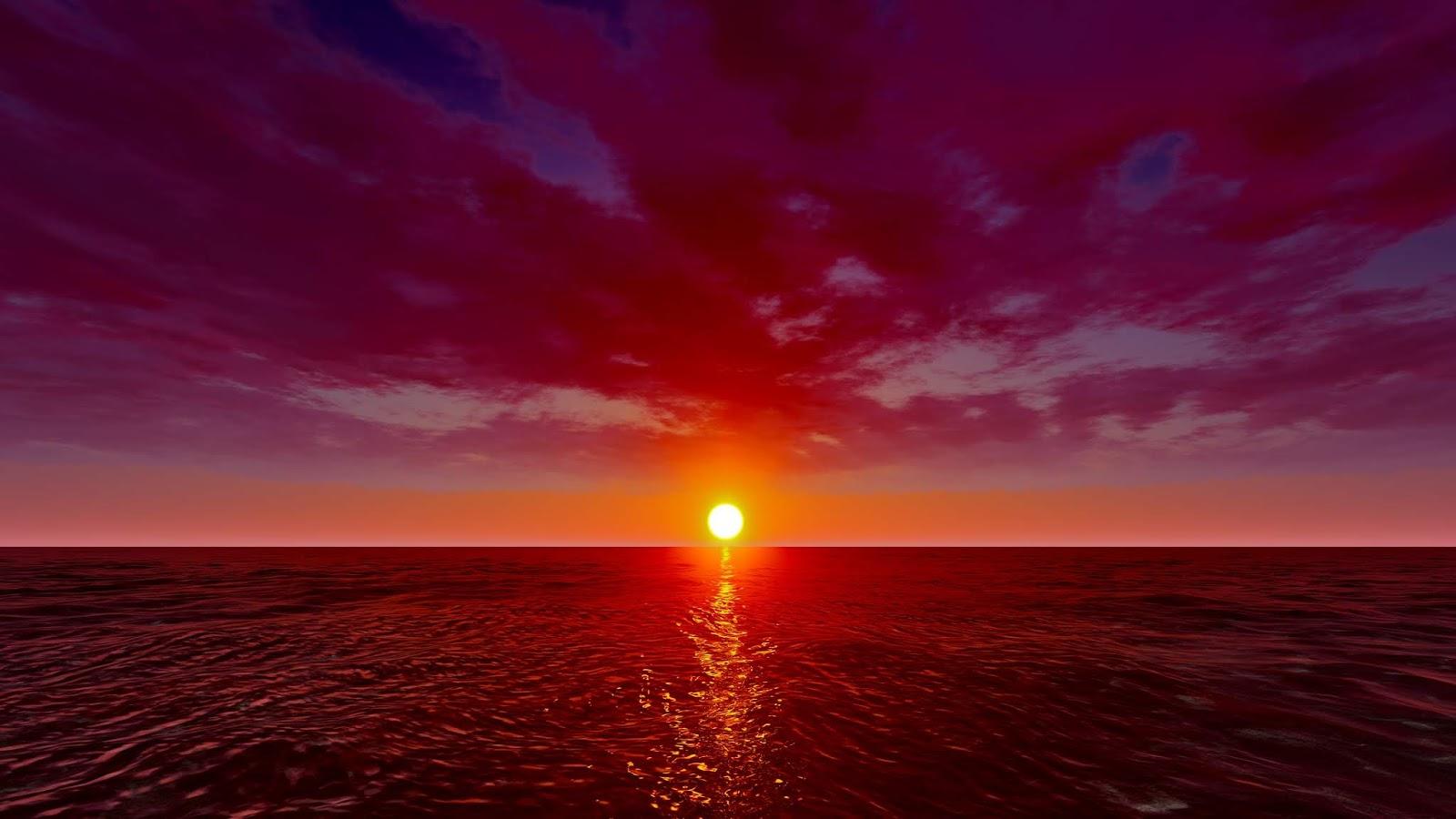Ảnh background bầu trời đỏ rực chất lừ