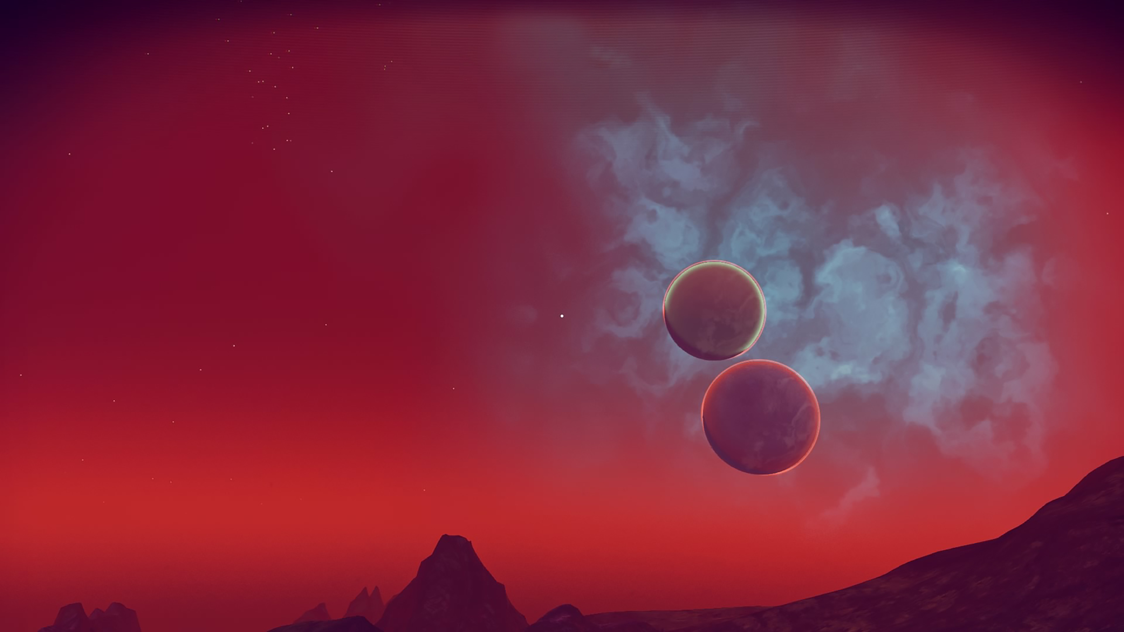 Ảnh background bầu trời và hai mặt trăng