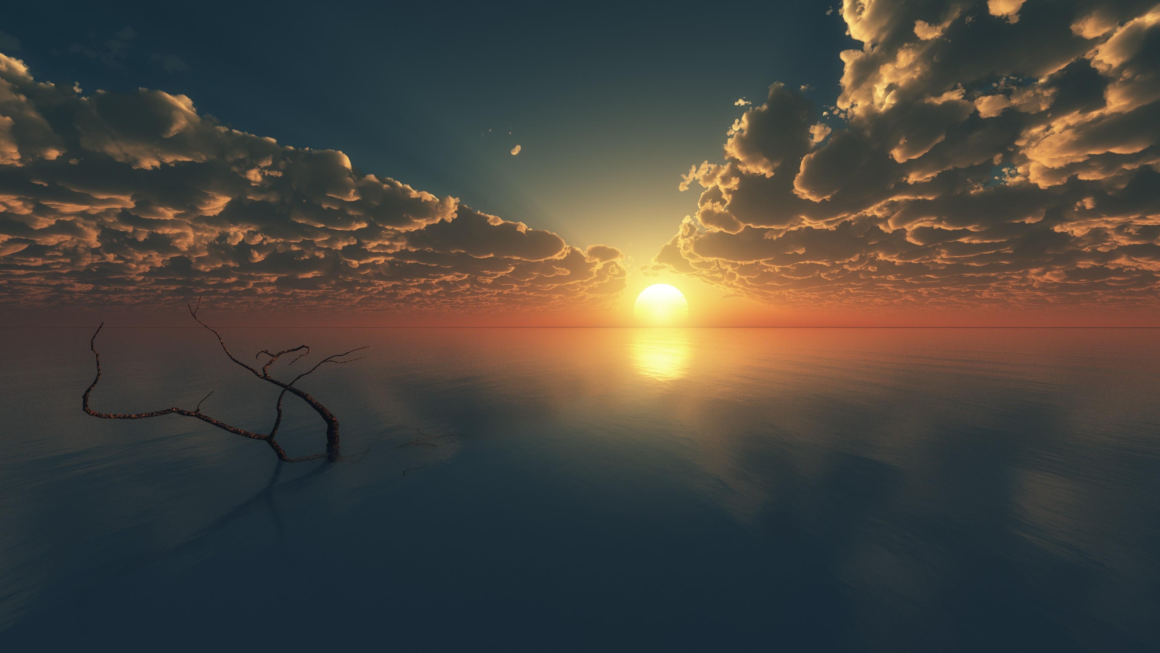 Ảnh background bầu trời và mặt nước phẳng lặng