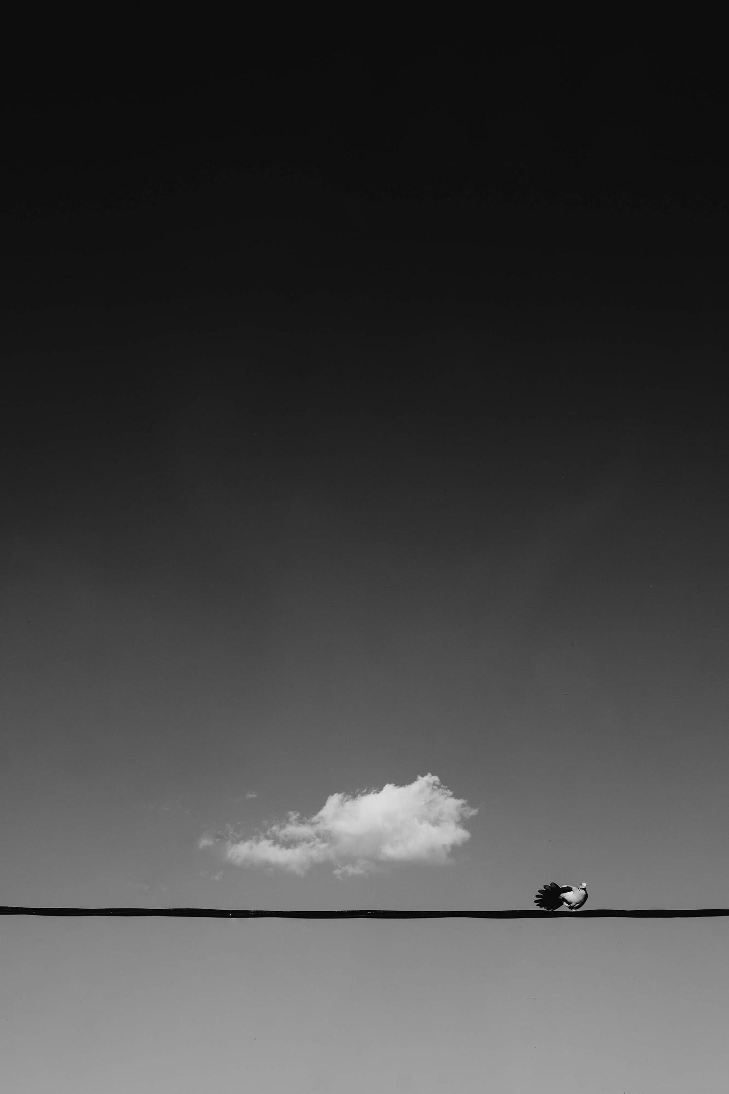 Ảnh background bầu trời xám xịt