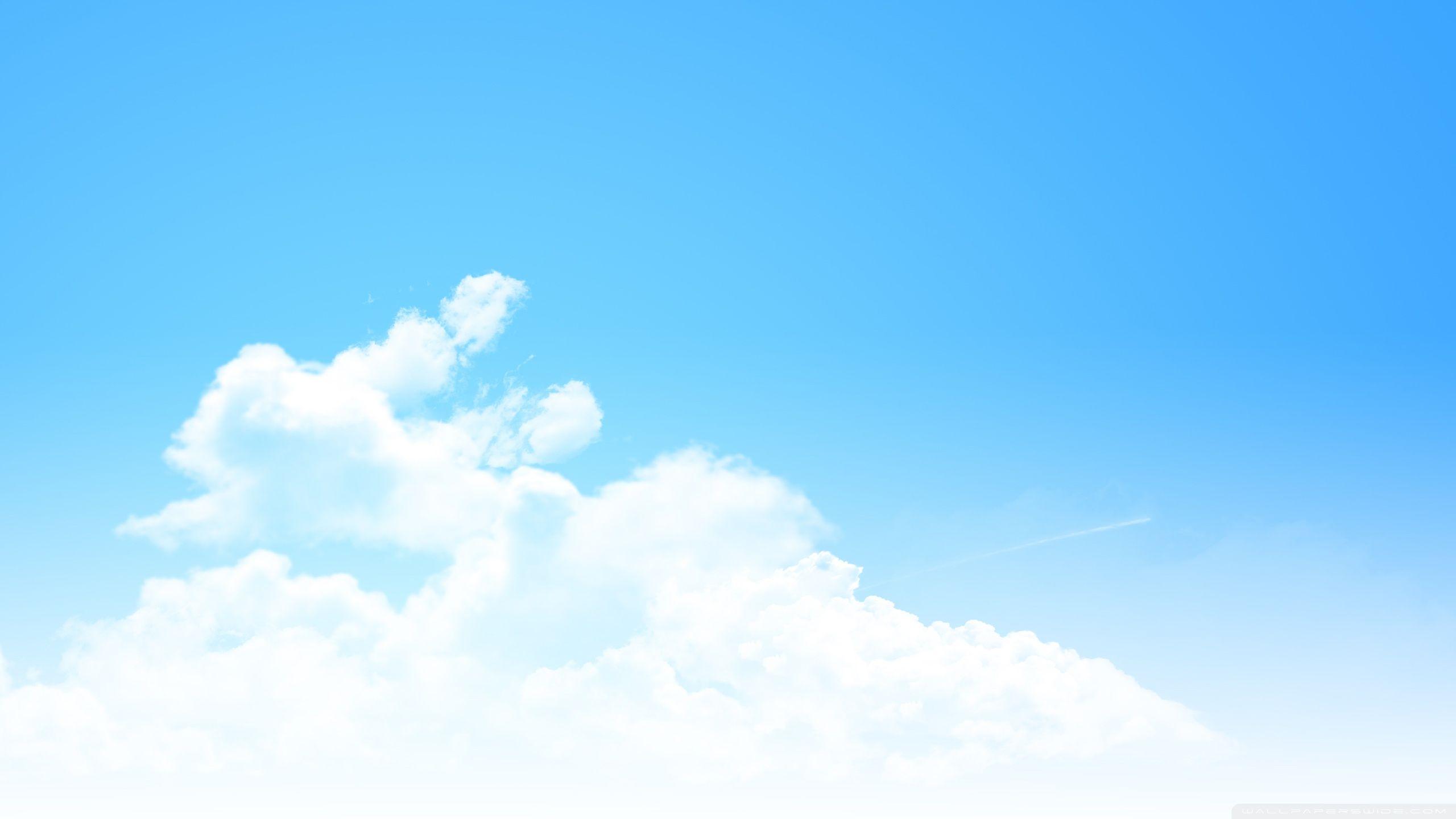 Ảnh background bầu trời xanh mây trắng cực đẹp