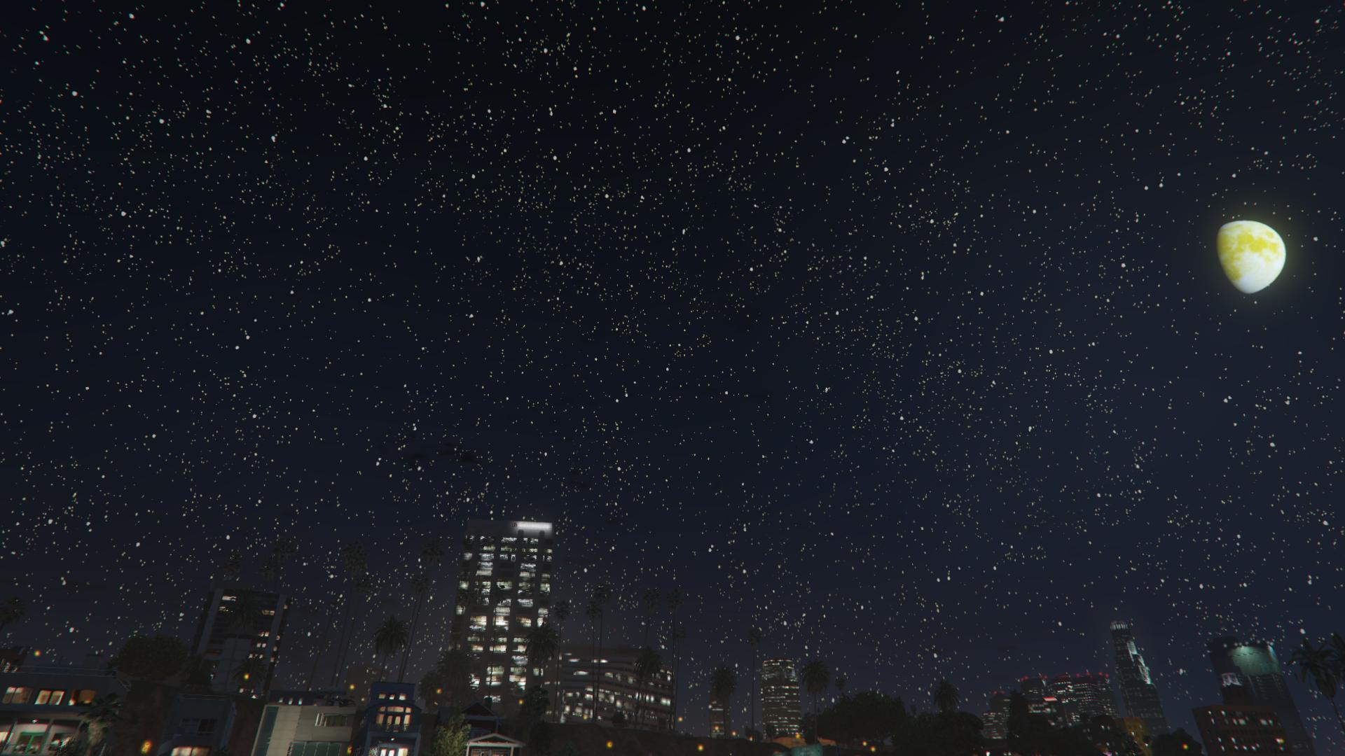 Ảnh background trời đêm trên thành phố