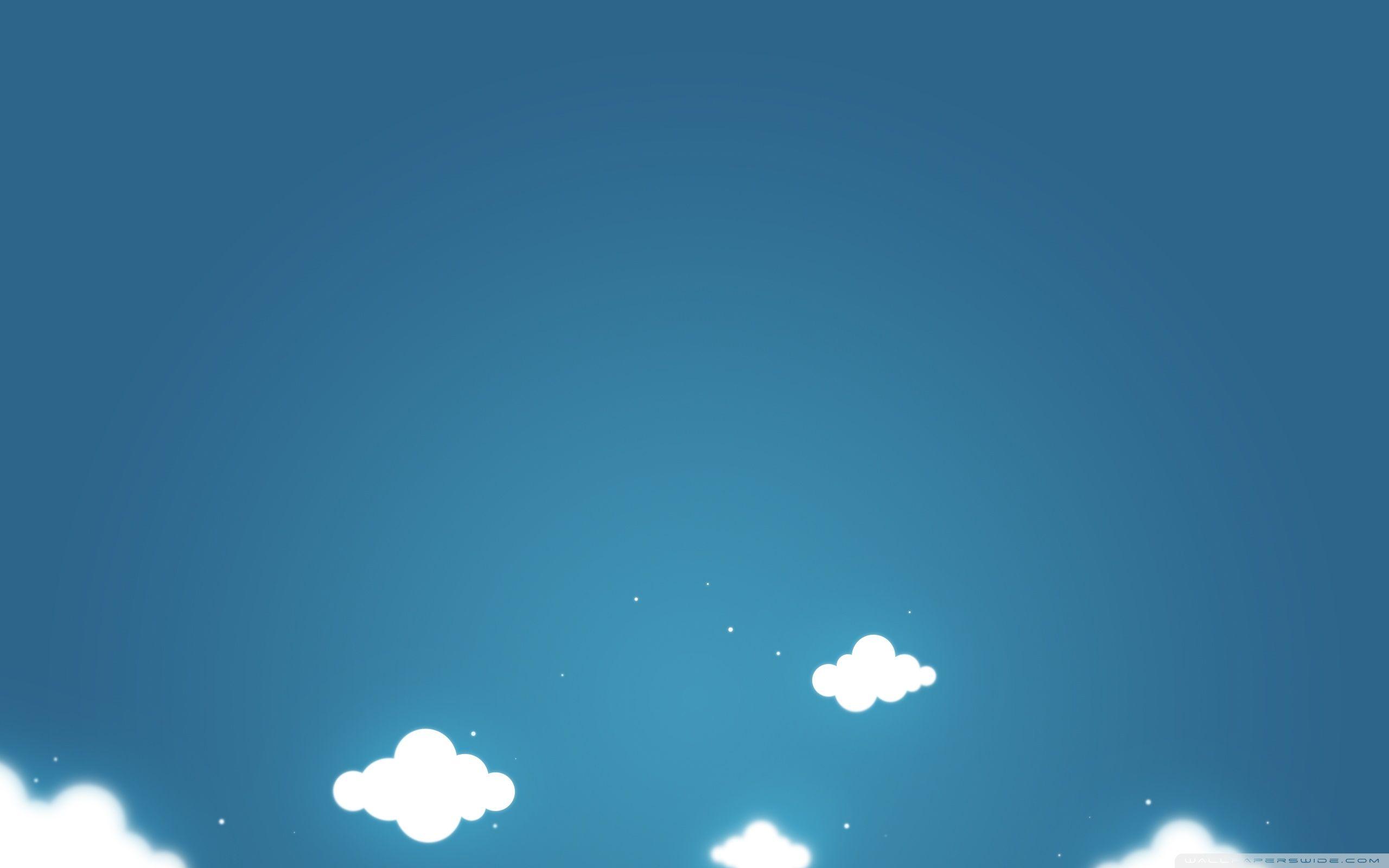 Ảnh vẽ background bầu trời và cục mây trắng