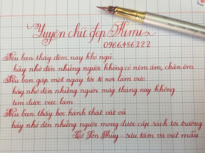 Luyện chữ đẹp nét chữ nét người
