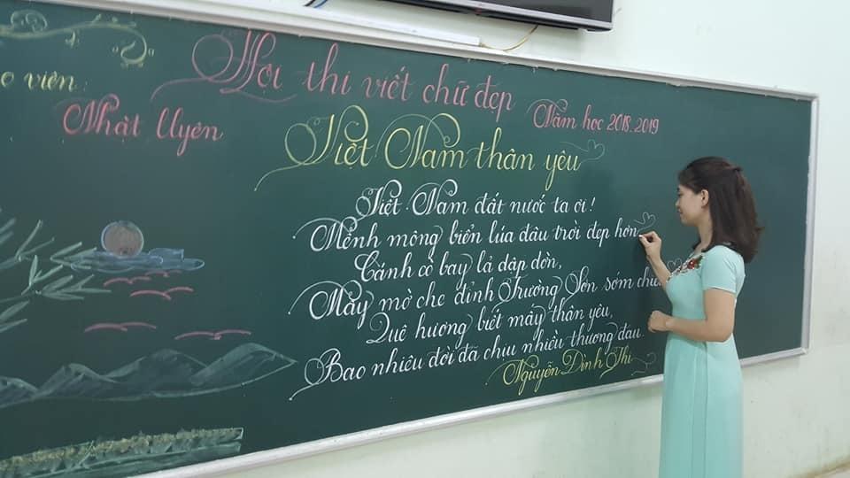 Mẫu chữ đẹp cho học sinh viết trên bảng