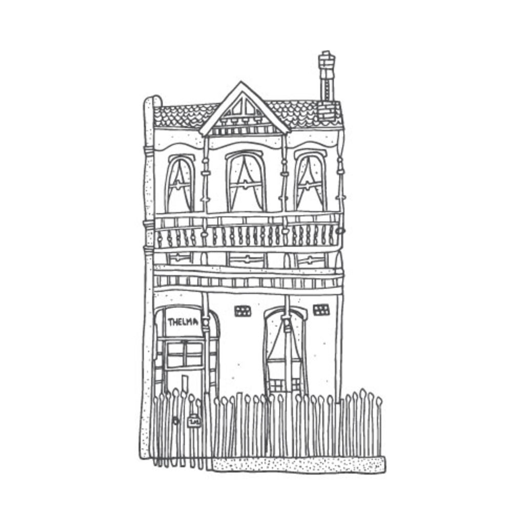 Tranh ngôi nhà để tô màu