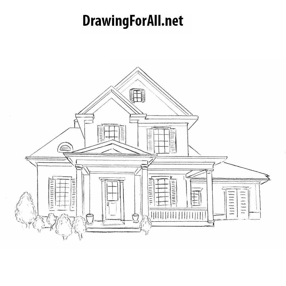Tranh tập tô màu ngôi nhà
