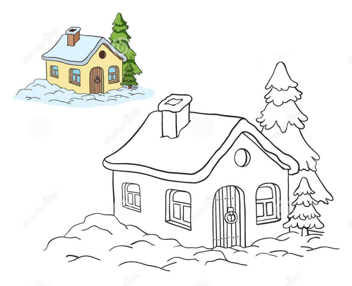 Tranh tô màu cho ngôi nhà theo mẫu