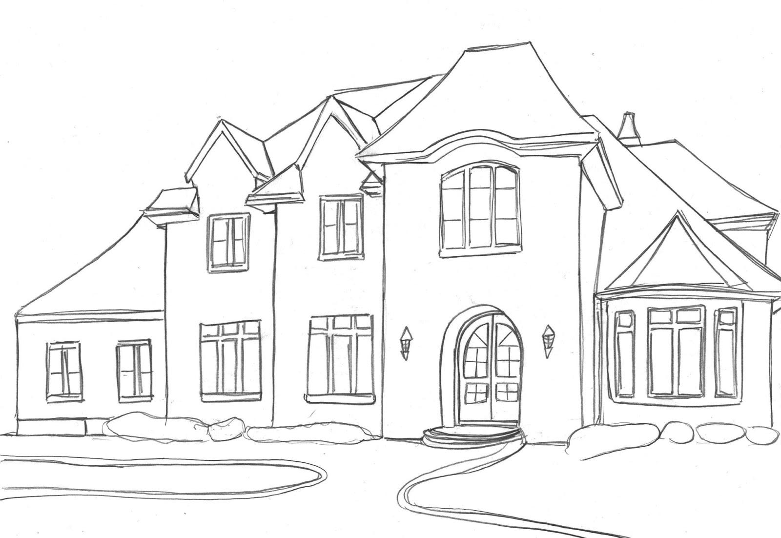 Tranh tô màu cho ngôi nhà