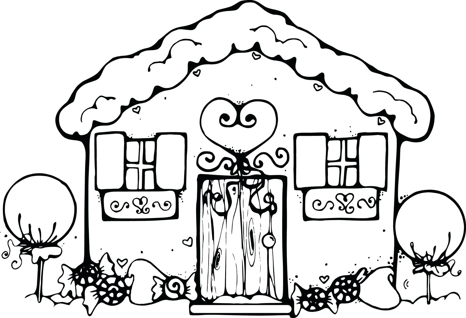 Tranh tô màu dành cho bé hình ngôi nhà