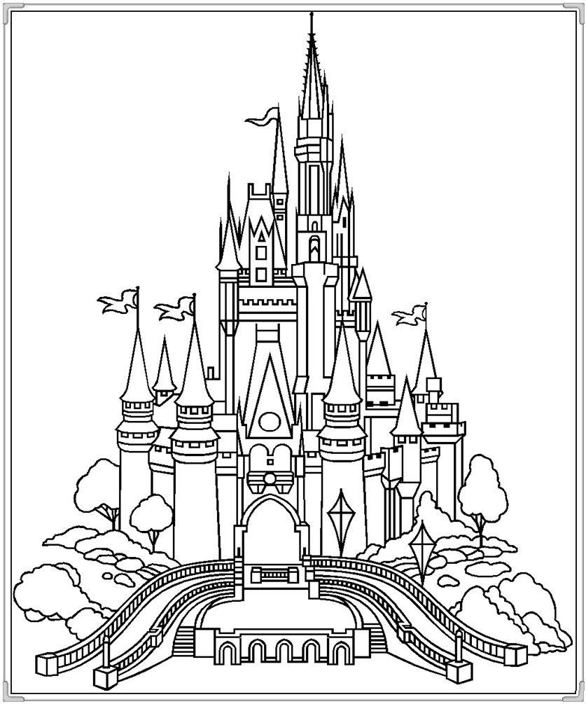 Tranh tô màu lâu đài thật đẹp