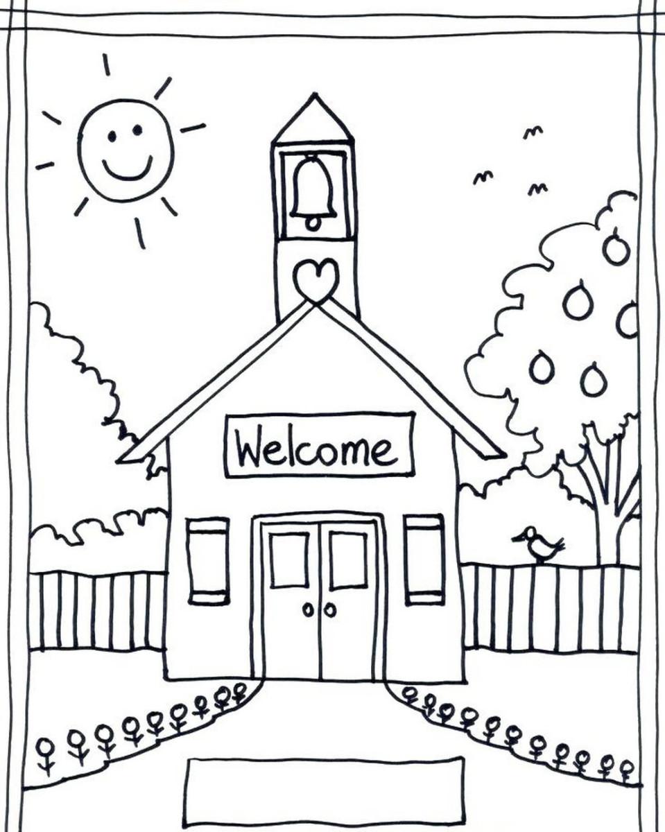 Tranh tô màu nhà thờ dành cho bé