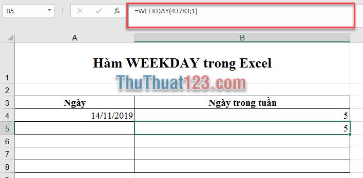 Excel lưu trữ ngày tháng ở dạng số sê-ri liên tiếp để sử dụng trong tính toán