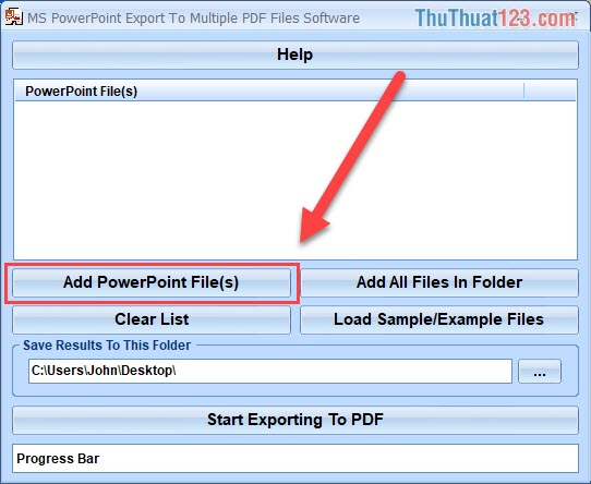 Chọn phần Add PowerPoint File(s)