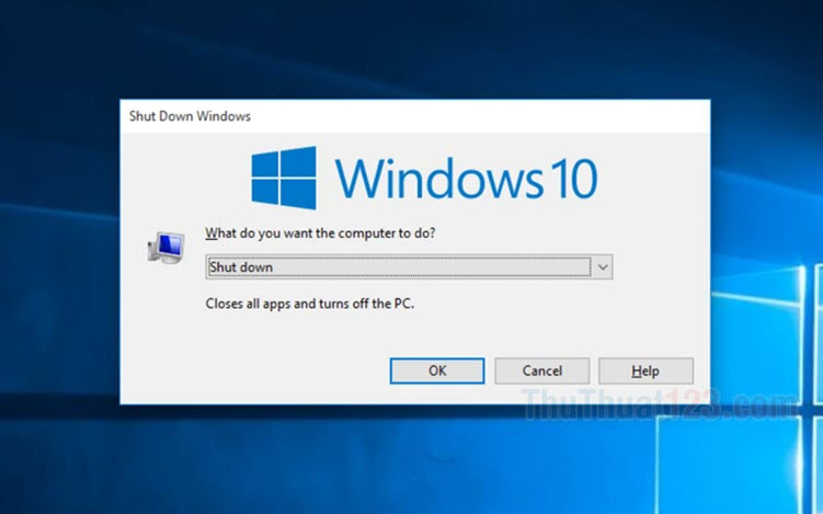 Cách tắt máy tính nhanh bằng bàn phím trên Windows 10