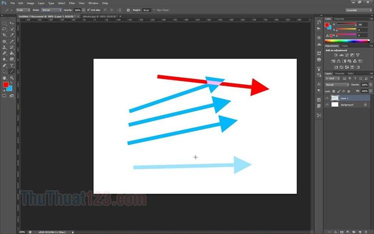 Hướng dẫn cách vẽ mũi tên trong Photoshop