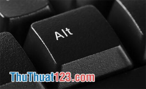 Tổ hợp phím tắt kết hợp với phím Alt
