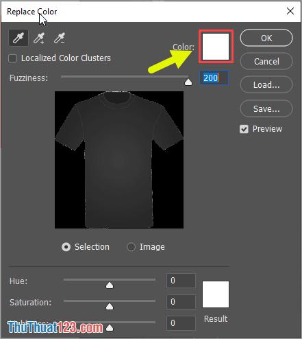 Các bạn nhấn vào Color để chọn phần màu sắc cần thay thế của đối tượng