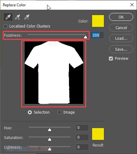 Nếu phần màu trắng chưa sắc nét (là màu ghi, đục), các bạn hãy tăng Fuzziness sao cho nó trắng và sắc nét nhất có thể