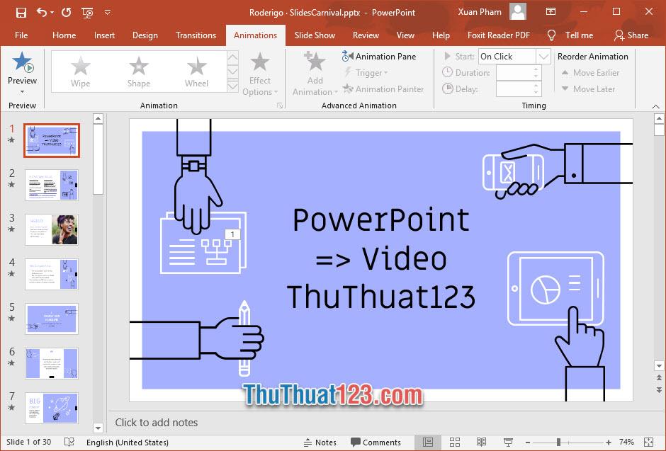 Cách chuyển PowerPoint sang Video nhanh chóng