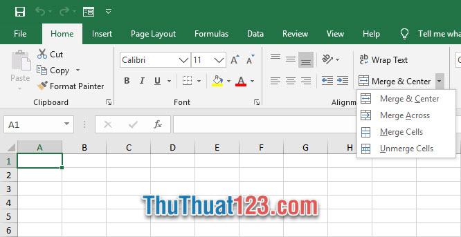 Cách tạo phím tắt Merge Cell trong Excel