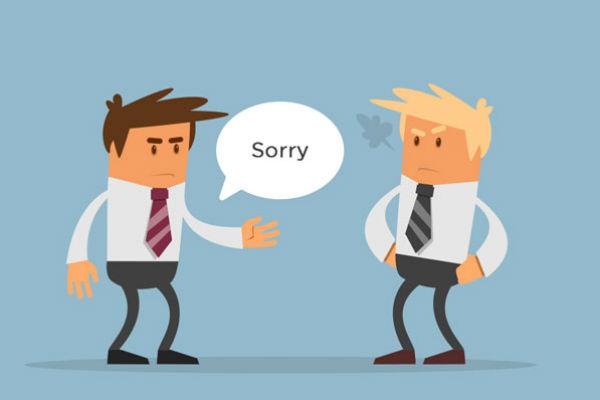 Hình ảnh bắt tay xin lỗi