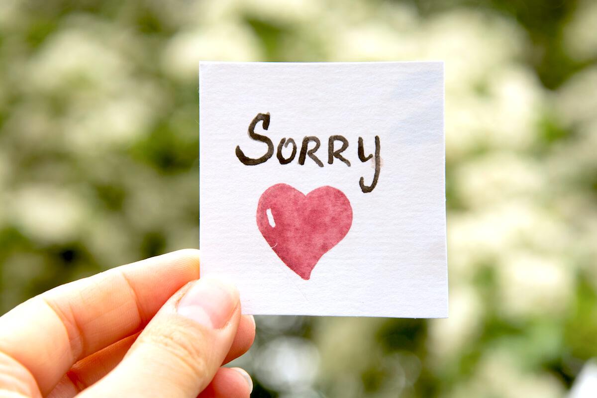 Hình ảnh ck xin lỗi vk