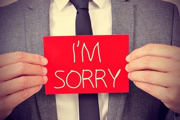 Hình ảnh gửi lời xin lỗi đẹp