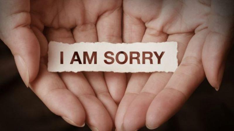 Hình ảnh gửi lời xin lỗi