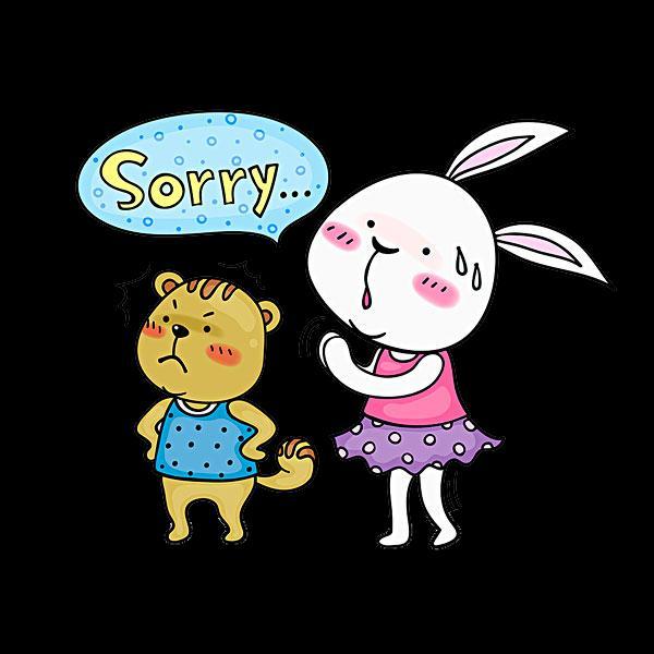 Hình ảnh hoạt hình xin lỗi