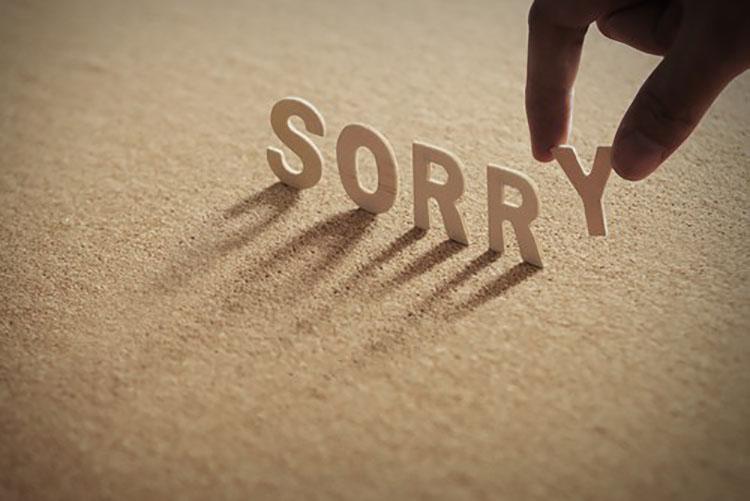 Hình ảnh nói lời xin lỗi