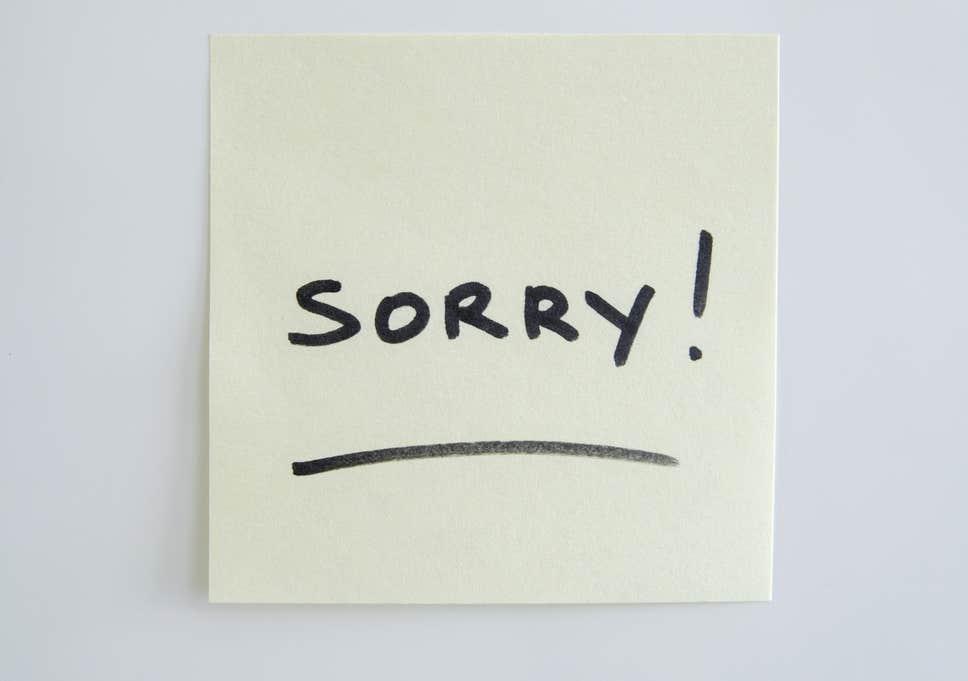 Hình ảnh nói về lời xin lỗi