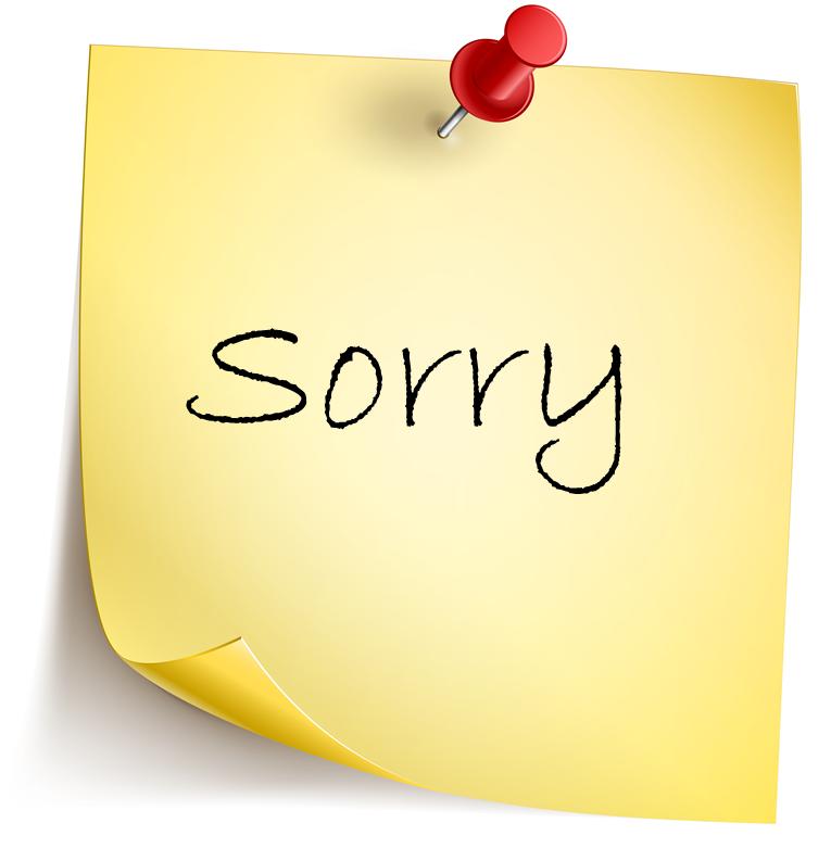 Hình ảnh thay cho lời xin lỗi