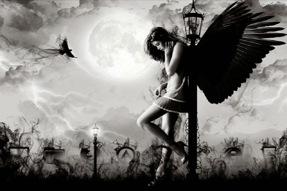 Hình ảnh thiên thần tuyệt vọng