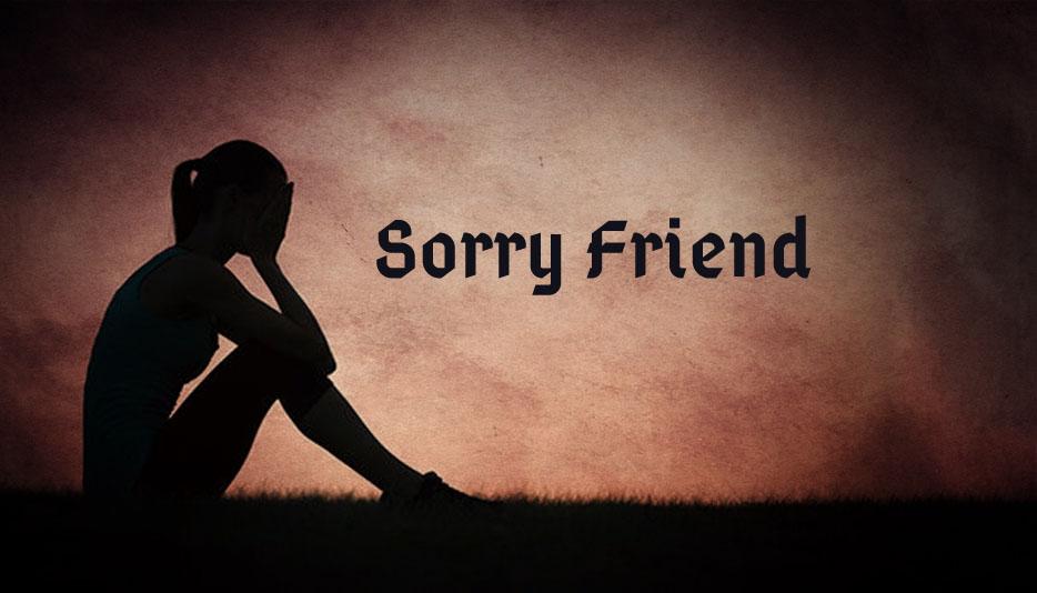 Hình ảnh xin lỗi bạn thân