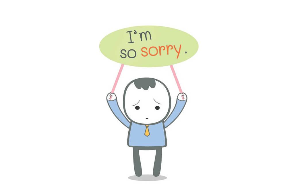 Hình ảnh xin lỗi bằng tiếng anh