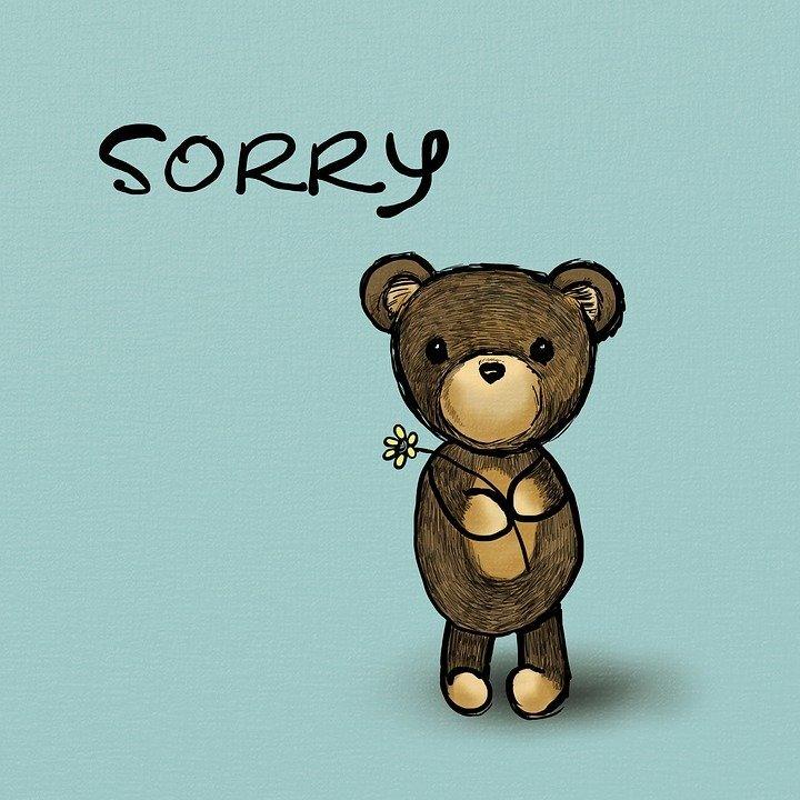 Hình ảnh xin lỗi đáng yêu nhất