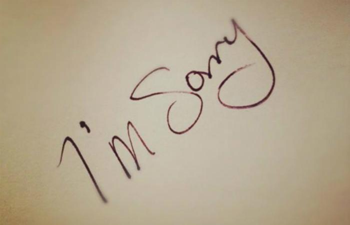 Hình ảnh xin lỗi đơn giản nhất