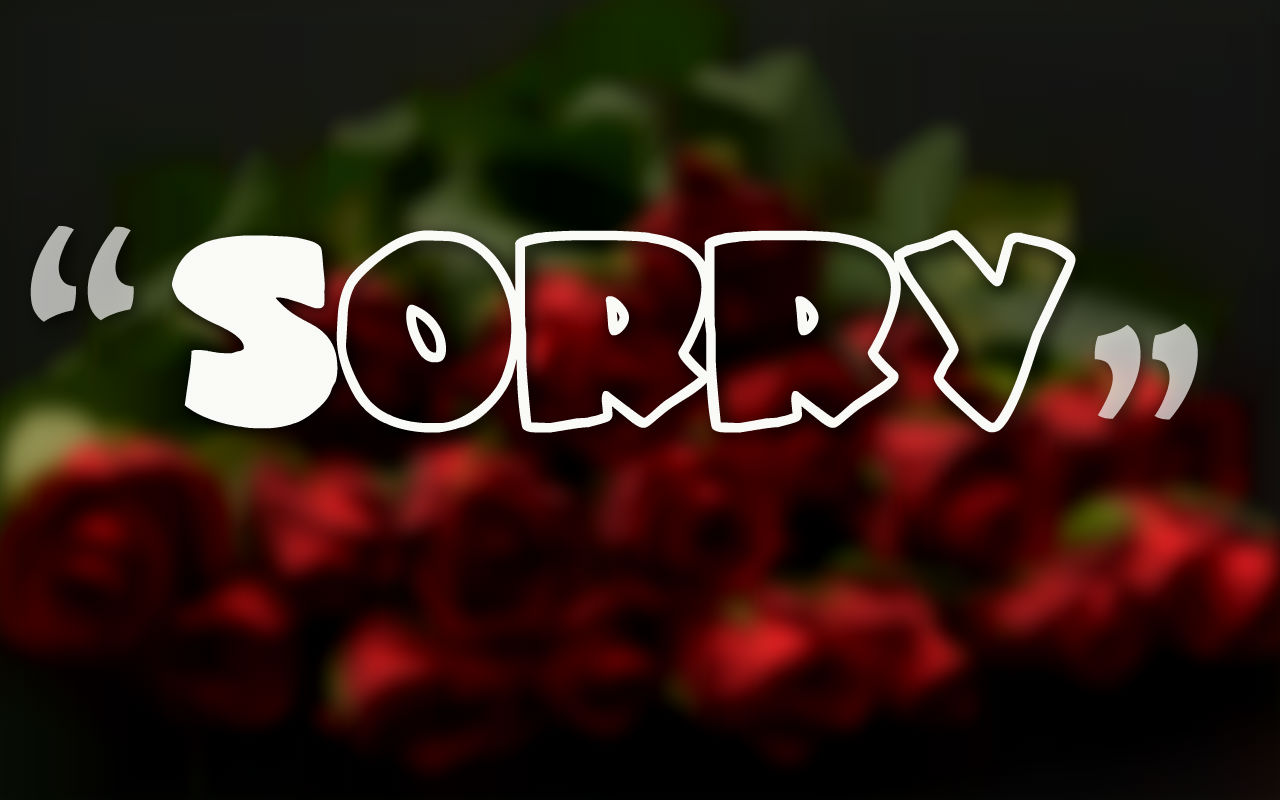 Hình ảnh xin lỗi em yêu