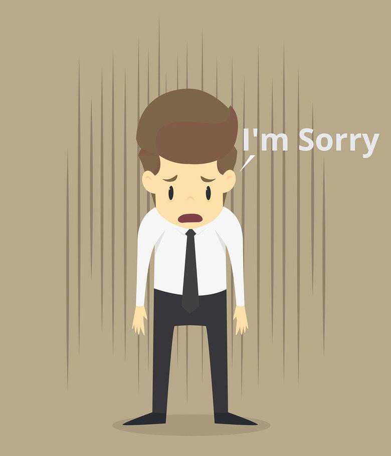 Hình ảnh xin lỗi thất vọng