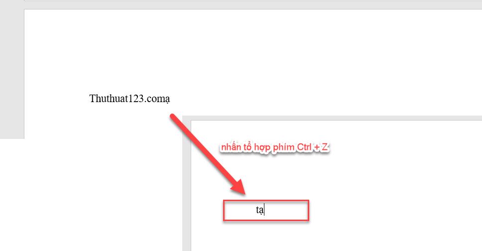 Để trở về ký tự bạn cần gõ tự, bạn nhấn tổ hợp phím Ctrl + Z để chỉnh lại thành ký tự cần gõ