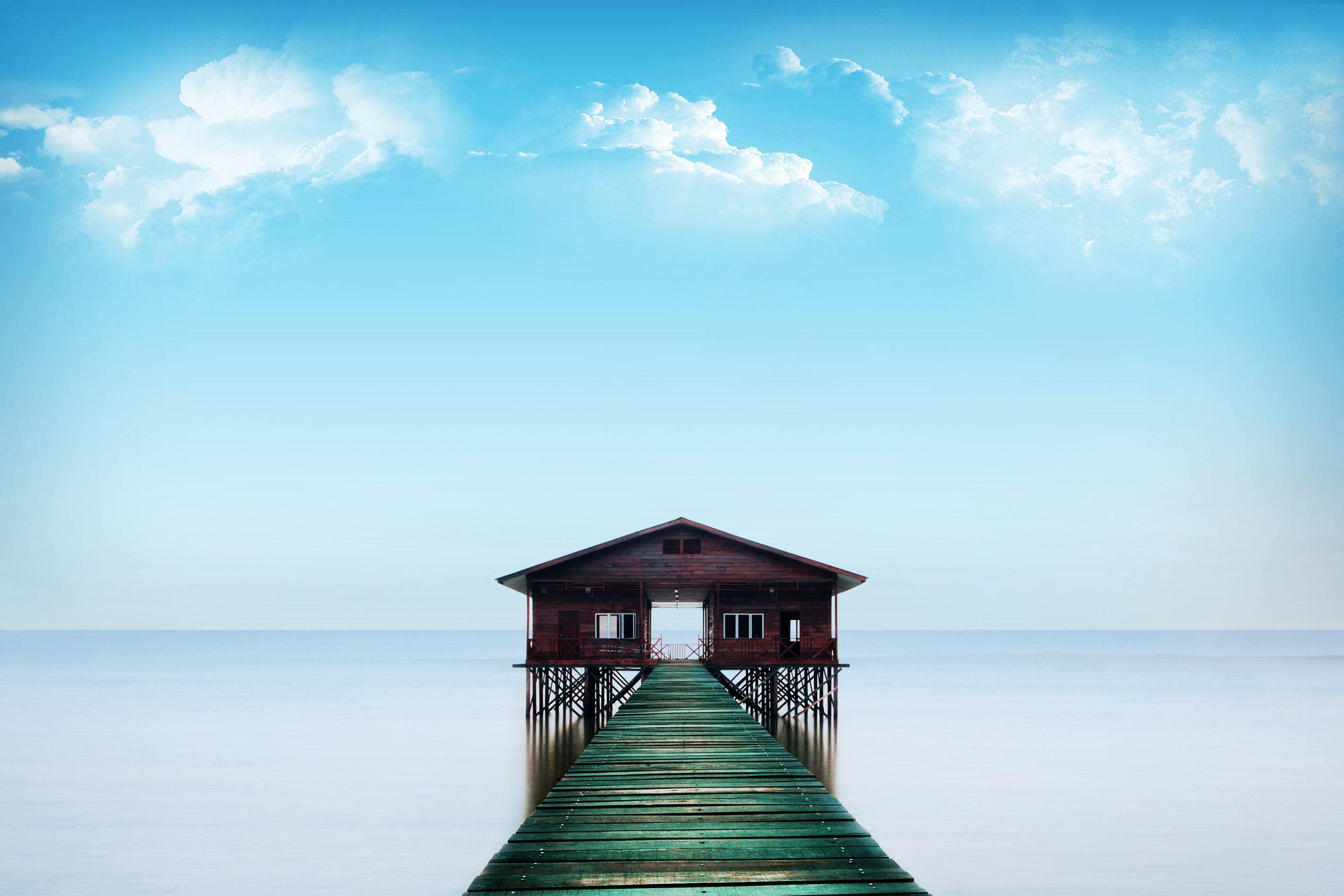 Hình ảnh bầu trơi xanh mây trắng