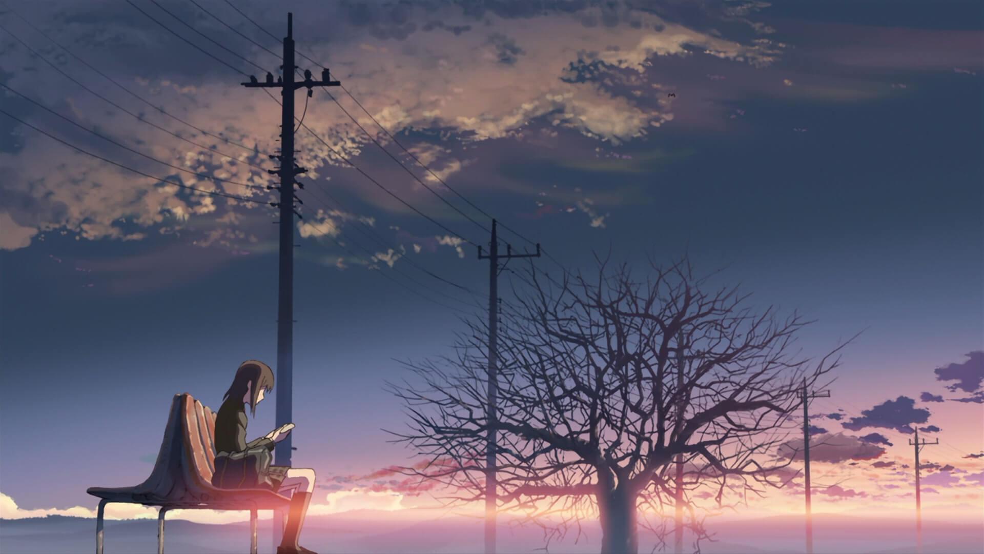Hình nền cô gái buồn xem thư