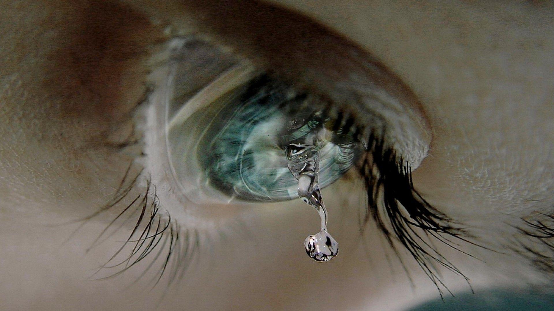 Hình nền đôi mắt buồn khóc thương