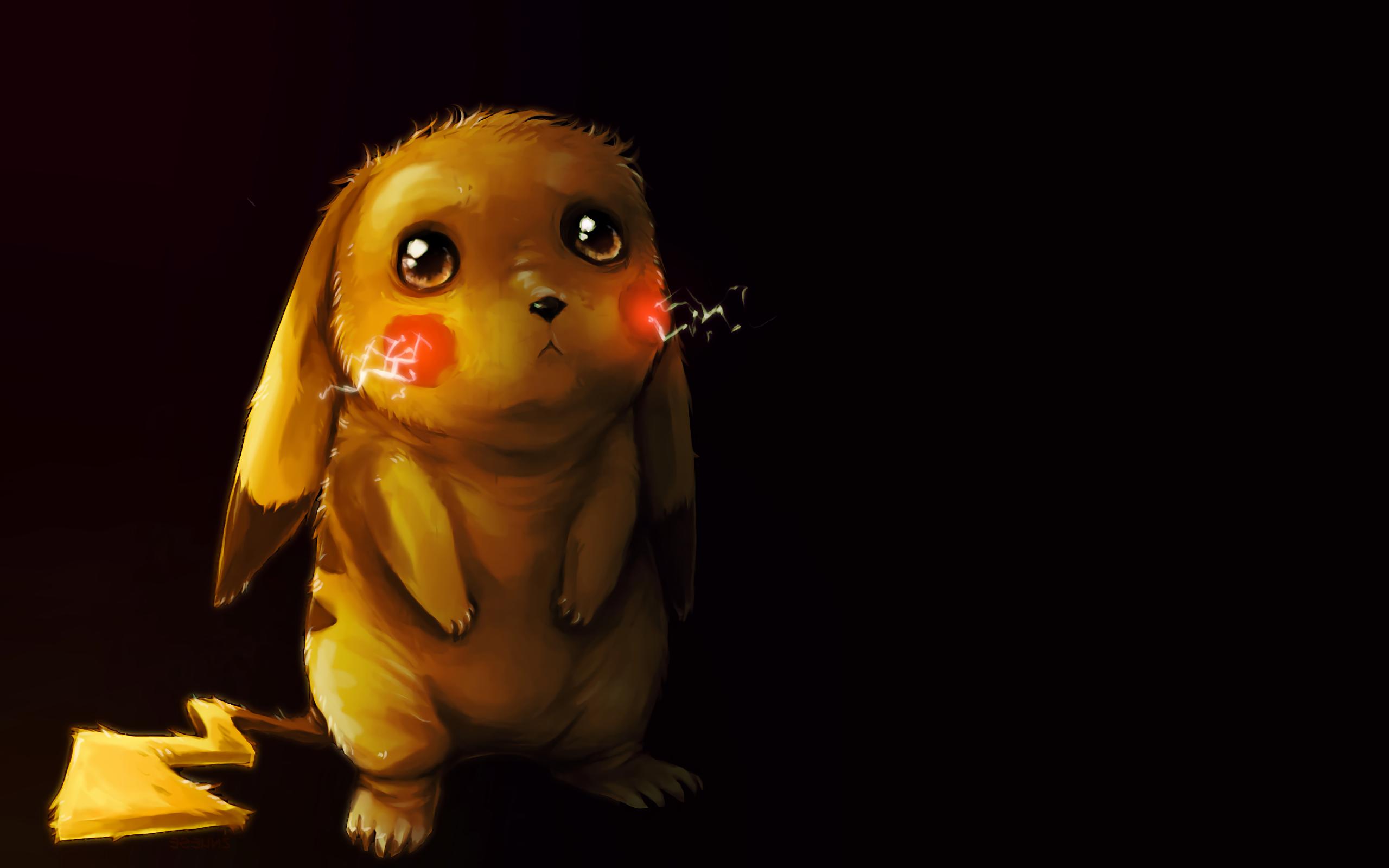 Hình nền máy tính Pikachu buồn bã
