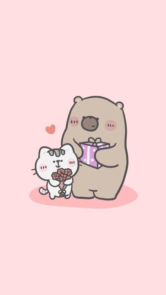 Ảnh nền điện thoại gấu thỏ đáng yêu 1