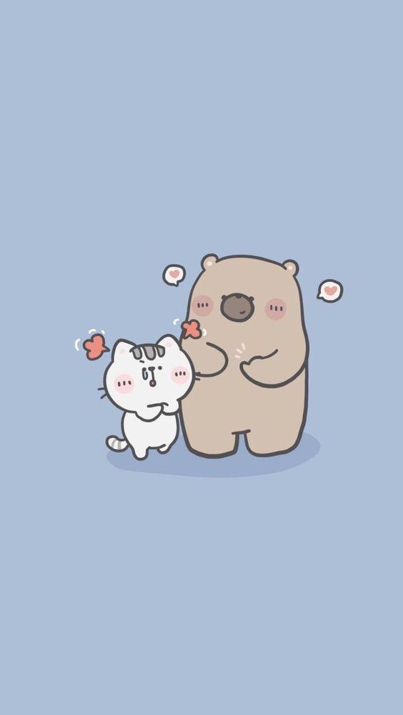 Ảnh nền điện thoại gấu thỏ đáng yêu 2