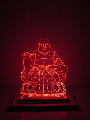 Đèn tượng Phật Di Lặc phát sáng
