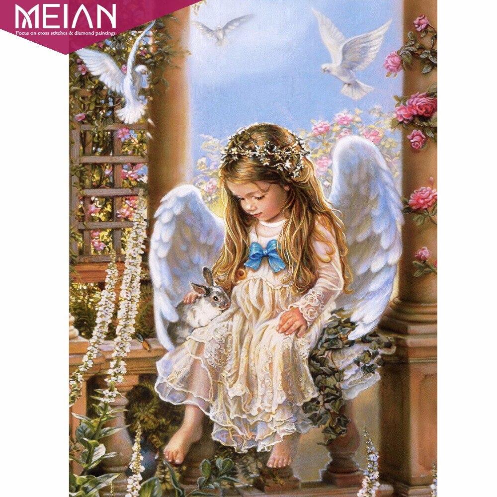 Hình ảnh cô bé thiên thần và thỏ con